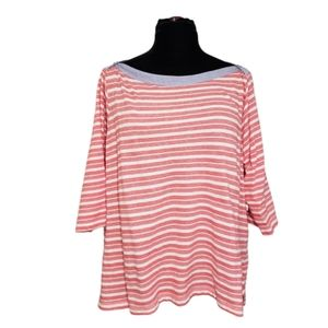 Tommy Hilfiger Red & White Striped Top